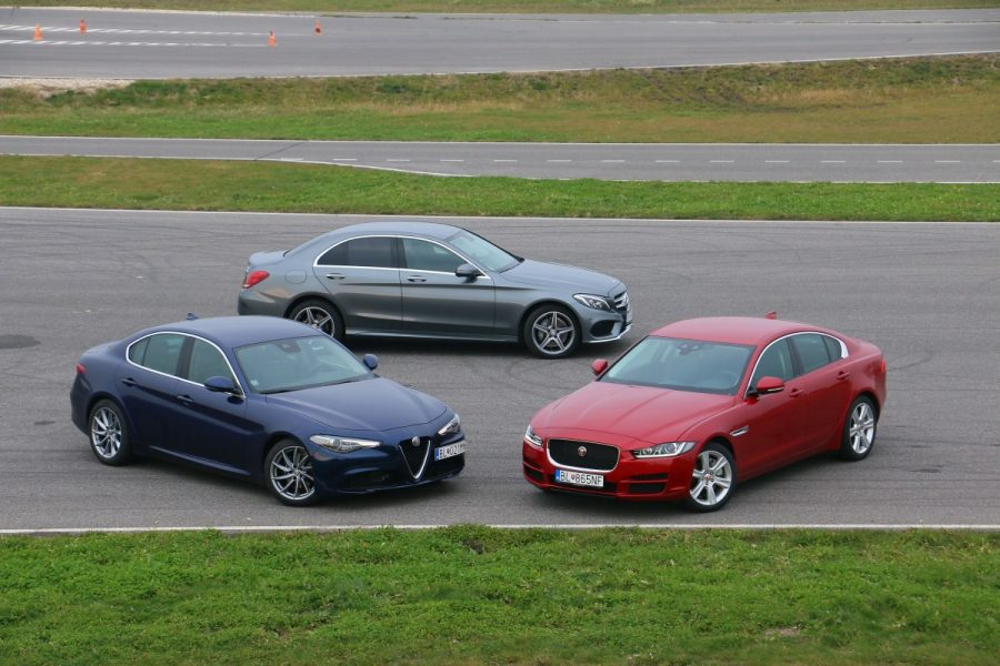 Jaguar xe vs alfa romeo giulia vs mercedes c220d 049 for Alfa romeo vs mercedes benz