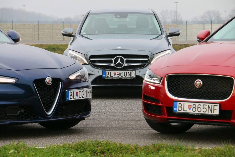 Jaguar xe vs alfa romeo giulia vs mercedes c220d 051 for Alfa romeo vs mercedes benz